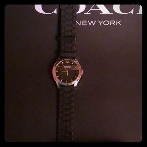 Coach Black Silicone used watch